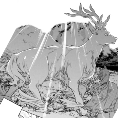 The White Stag passing by Ogarou
