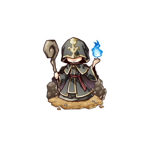 Lord Waisury as a High Wizard in the mobile game