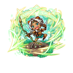 Ran (Hero of Hunting) in her youth in the mobile game