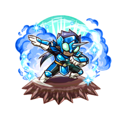 The Blue Paraberanger as a Karma Oni in the mobile game