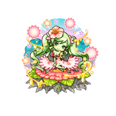 Doriane with the title of Beautiful flower after her awakening to the 18 Demon Warlords in the mobile game