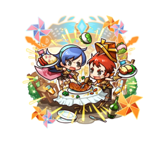 Lutz & Eela 【Competitive Eaters】 in the mobile game