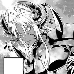 Ogarou using his Exoskeleton【Red Bear Beast King's Prestige】 for the first time