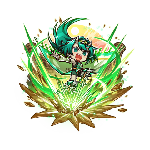 Fuuki 【Emerald Comet】 as a Storm Lord training in dungeons