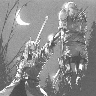 Ogarou defeating a Greater Skeleton