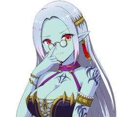 Kanami as a Vampire Noble in the dialogs of the mobile game