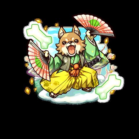 Akitainu 【Party Samurai Dog】 as Kobold Shogun in the mobile game