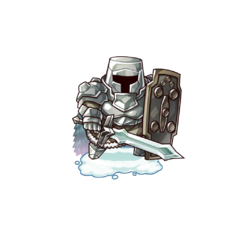 Aiora (the Human Shield Warrior) in the mobile game