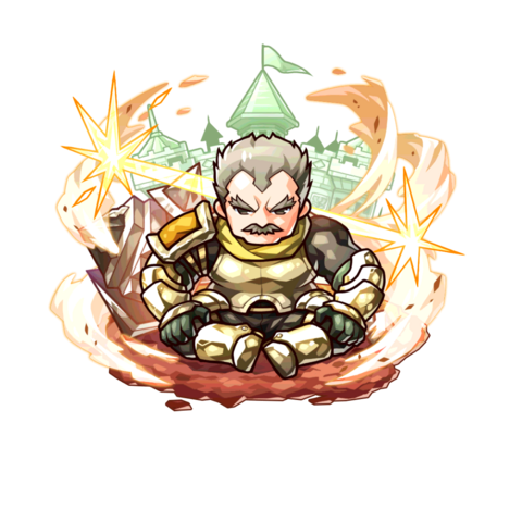 Gascade Barossa Meloi (Hero of Iron Rock) in the mobile game.