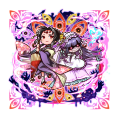 Aifu & Kugime 【Gloomy Gals at War】 as a Kugionihime during the Holy War