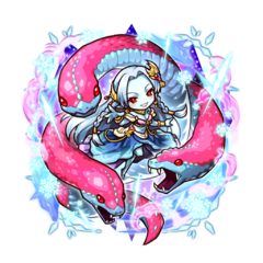 Kanami along with her Ice Blood Hydra