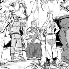 Akitainu guiding Rou & Cie to the Kobold's den