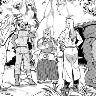 Akitainu guiding Rou & Cie to the Kobold's den