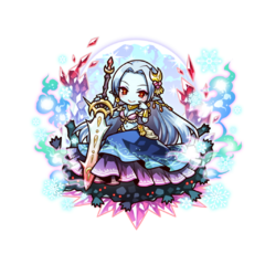 Kanami as an Ice Blood True Vampire in the mobile game