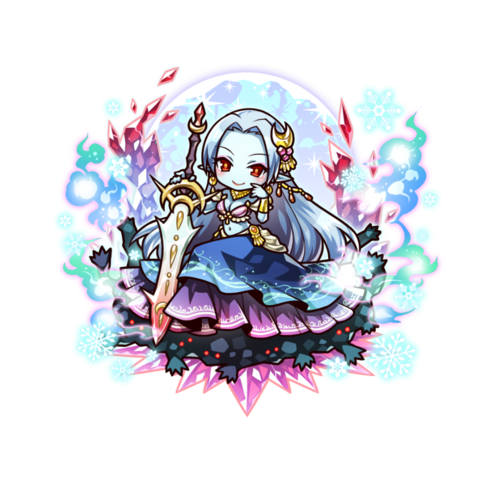 Mi as an Ice Blood True Vampire in the mobile game