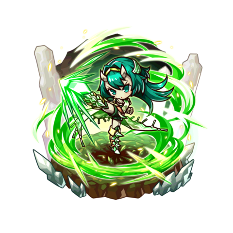 Fuuki as a Storm Lord in the mobile game.