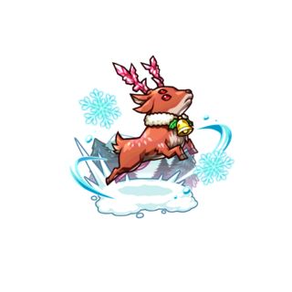 A Red Deer (Holy Night) in the mobile game