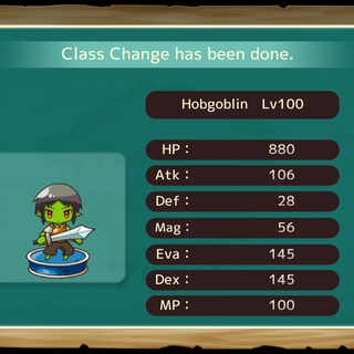 Your MC as a Hobgoblin in the mobile game