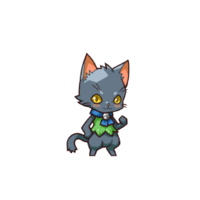 Front 0153 CatFairy(Black)