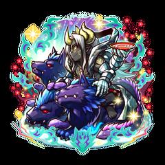 Kurosaburou 【Blue Black Wolf】 as a Hell Cerberus with Ovarou