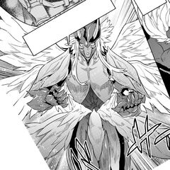 Ogarou using his Exoskeleton【Jade Eagle King's Flight】 for the first time