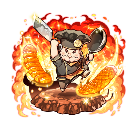 Cervantes (Hero of Cuisine) in the mobile game