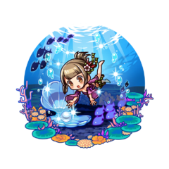 Emery Furado 【Under Water Treasure Hunter】 as a Demon Child's Holy Mother