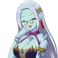 Kanami as a Vampire Noble in the dialogs