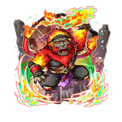 Galdra Ebra (Boss Monkey) as an Impervious Blaze Monkey with the title of Burning Baboon after his awakening to the 18 Demon Warlords
