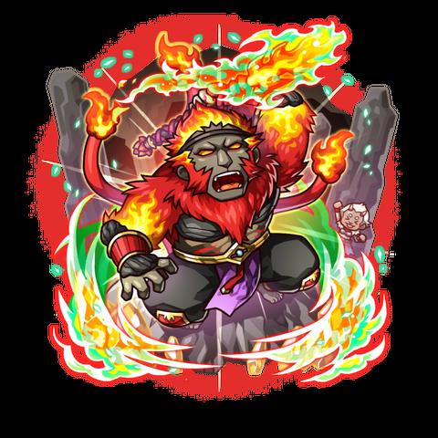 Galdra Ebra as an Impervious Blaze Monkey
