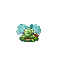 A Green Slime in the mobile game