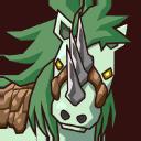 Icon 0122 Triplehornedgreenscaledhorse