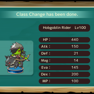 Your MC as a Hobgoblin Rider in the mobile game