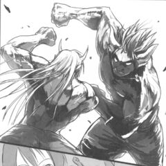 Ogarou vs. Ogakichi testing their new strength