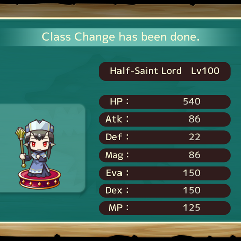 Your MC as a Half Saint Lord in the mobile game