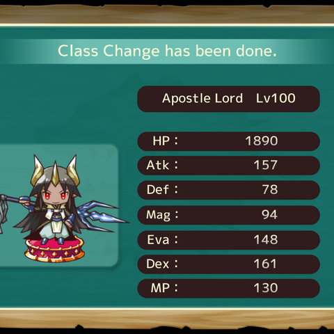 Your MC as an Apostle Lord in the mobile game