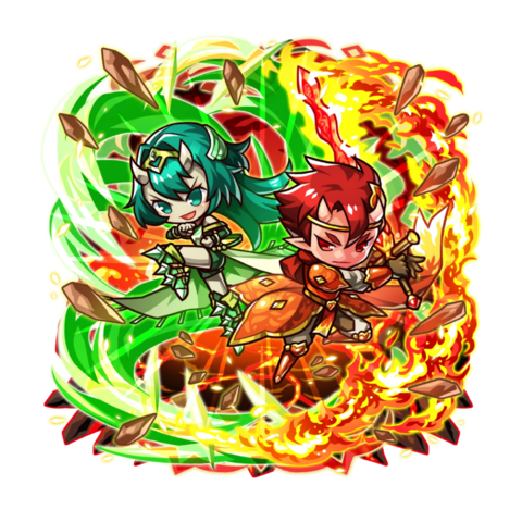 Netsuki & Fuuki 【Fierce Firestorm】 as a Blaze Lord and as a Storm Lord battling together