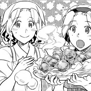 Alma and Felicia having cooked Falaise Eagles