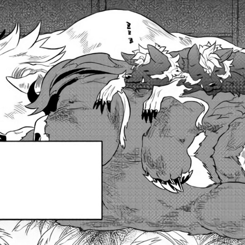 A boruforu, Kumajirou and Kurosaburou sleeping together