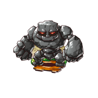 A Steel Golem in the mobile game