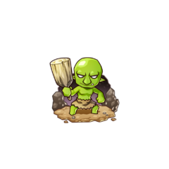 Gobukichi as a Goblin in the mobile game