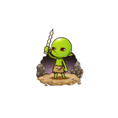 Goburou as a Goblin in the mobile game