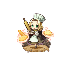 Alma as a Cook Chief in the mobile game