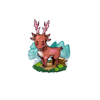 A Red Deer in the mobile game