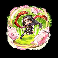 Sumeragi Kaede (Ninja of Flurry of Cherry Blossoms) in the mobile game
