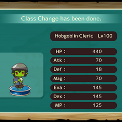 Your MC as a Hobgoblin Cleric in the mobile game
