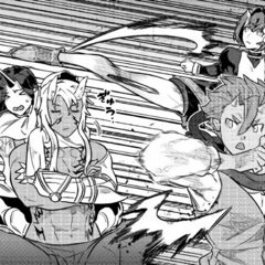 The Lords Trio being teached close combat by Ogarou