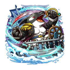 The Black Orca Admiral (Boss of the God of Ships' dungeon)