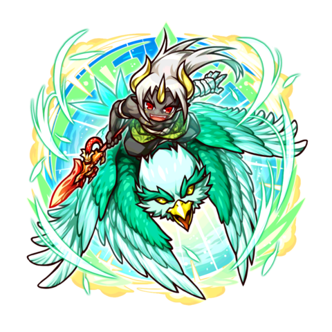 What if? Aporou riding a Jade Eagle in the mobile game