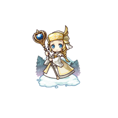 Corail (the Human Cleric) in the mobile game